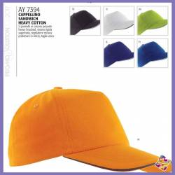 Cappellino sandwich heavy cotton