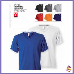 V-neck t-shirt colours uomo