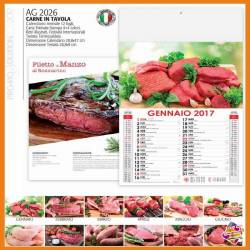Calendario carne in tavola